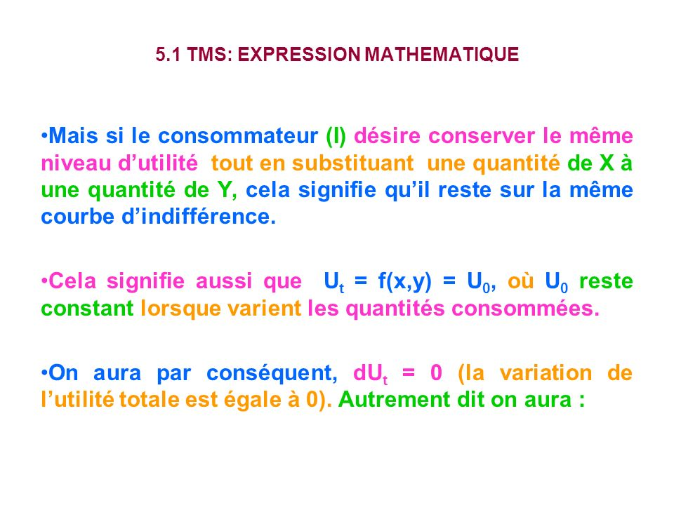 5.1 TMS: EXPRESSION MATHEMATIQUE