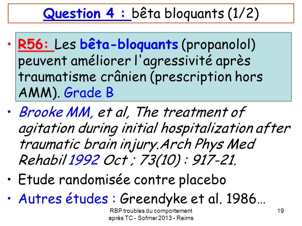 Question 4 : bêta bloquants (1/2)