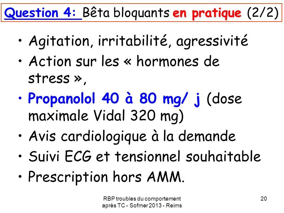 Question 4: Bêta bloquants en pratique (2/2)