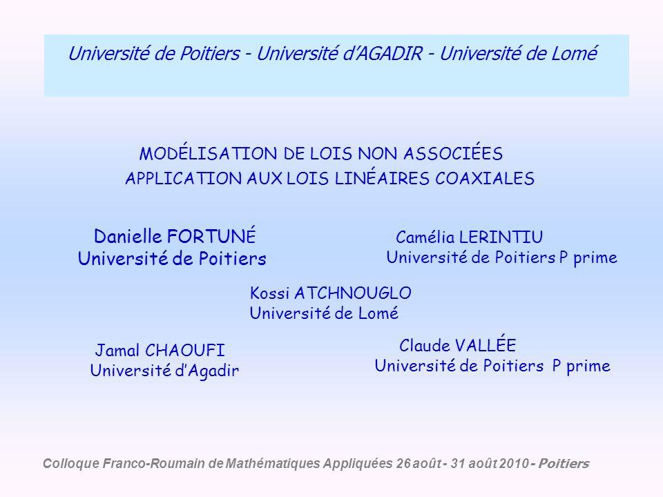 Danielle FORTUNÉ Université de Poitiers