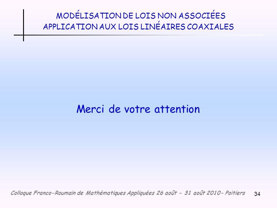 MODÉLISATION DE LOIS NON ASSOCIÉES APPLICATION AUX LOIS LINÉAIRES COAXIALES