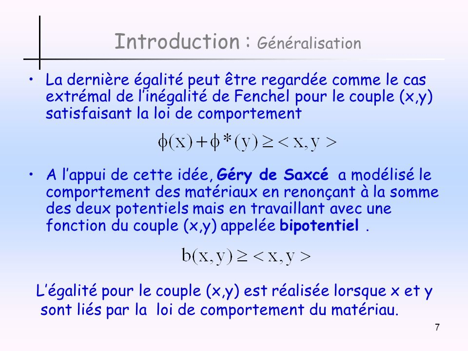 Introduction : Généralisation