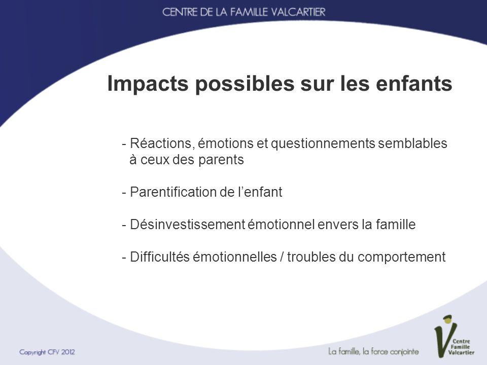 Impacts possibles sur les enfants