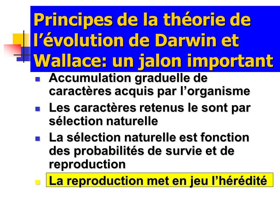 Principes de la théorie de l'évolution de Darwin et Wallace: un jalon important