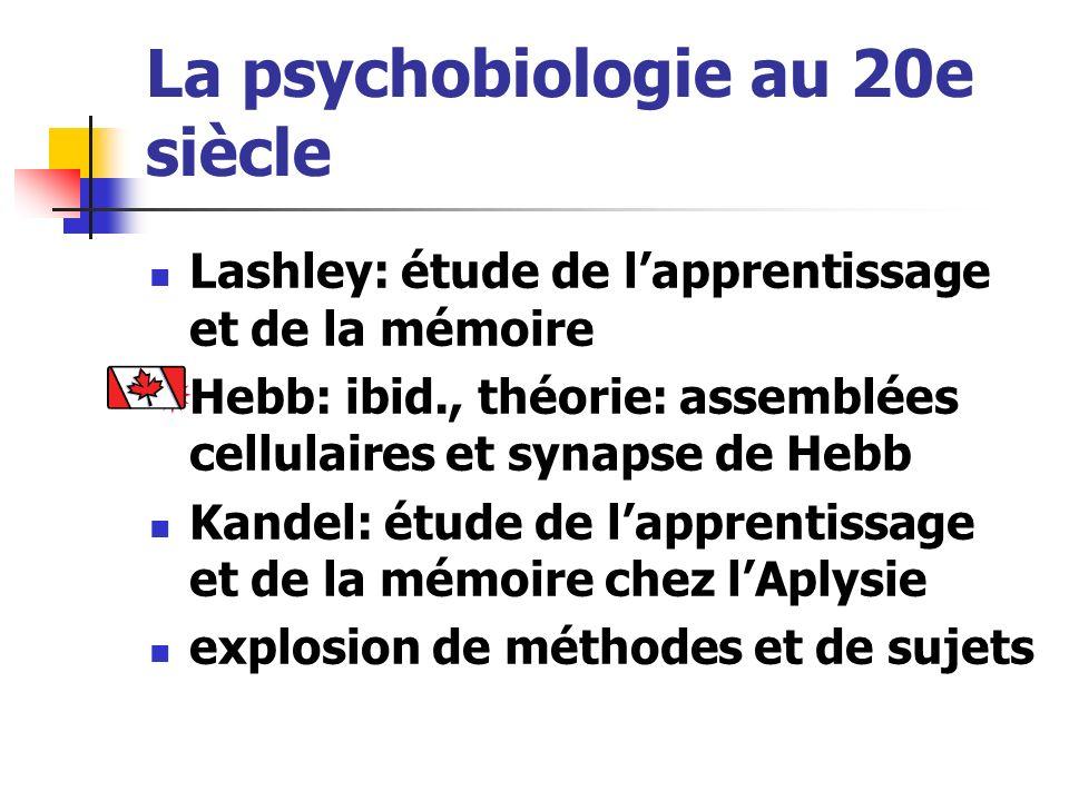 La psychobiologie au 20e siècle