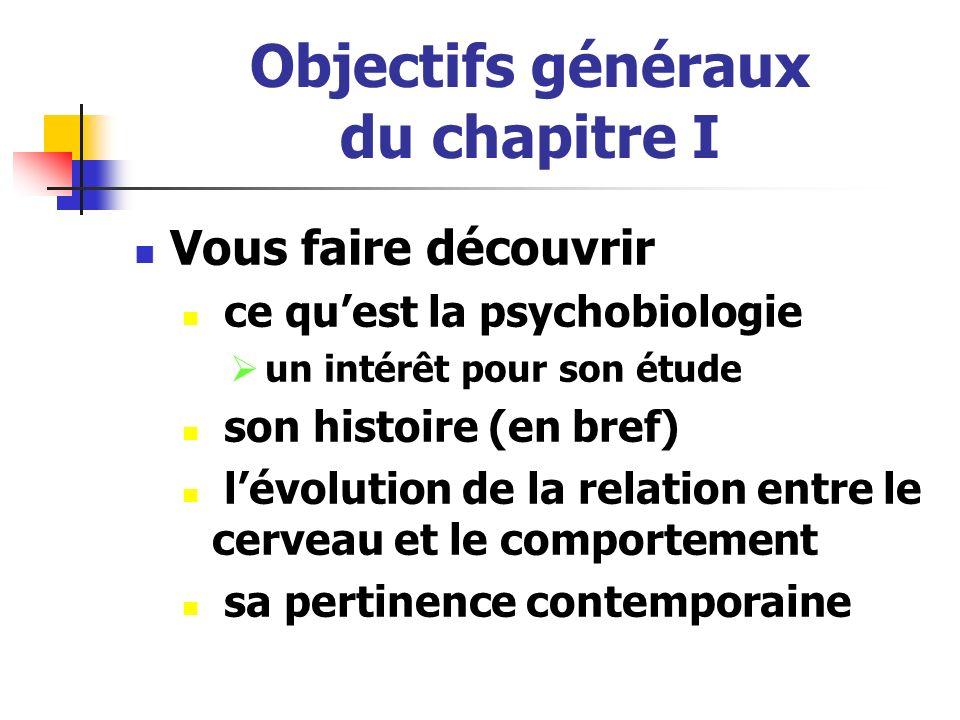Objectifs généraux du chapitre I