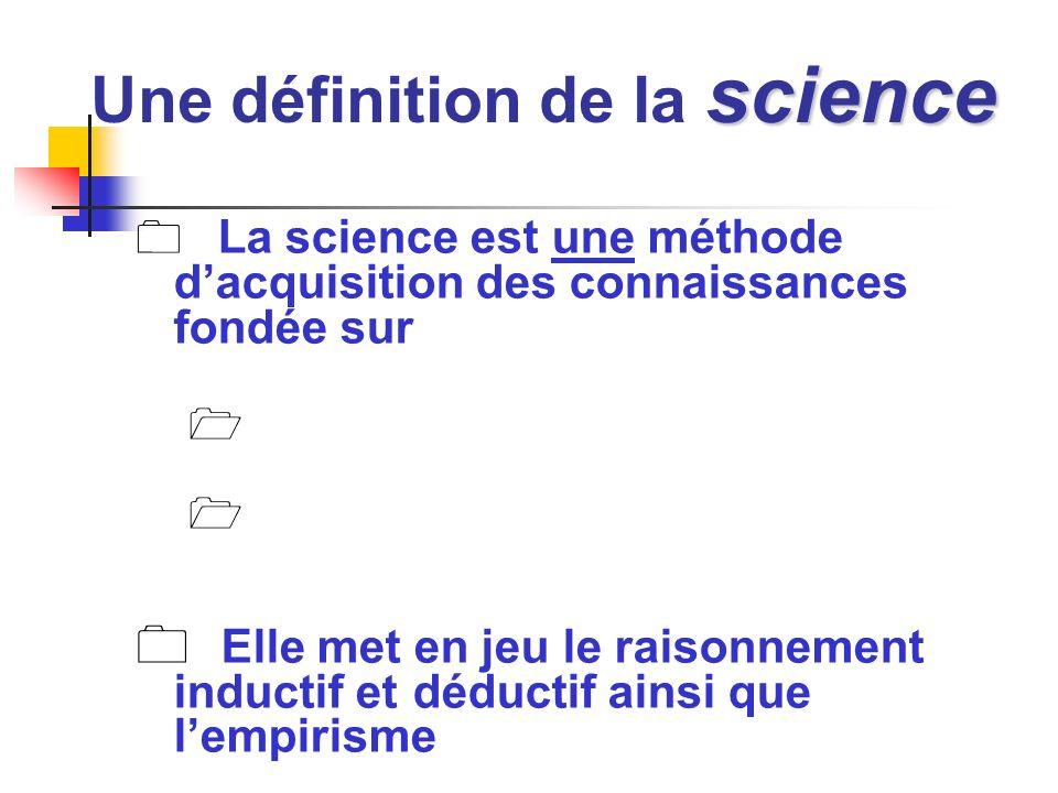 Une définition de la science