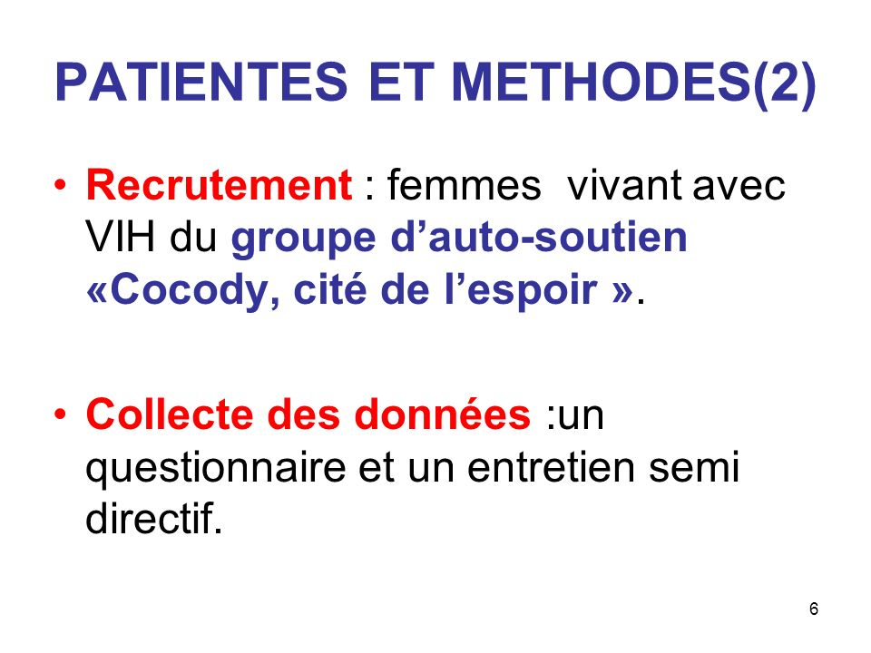 PATIENTES ET METHODES(2)