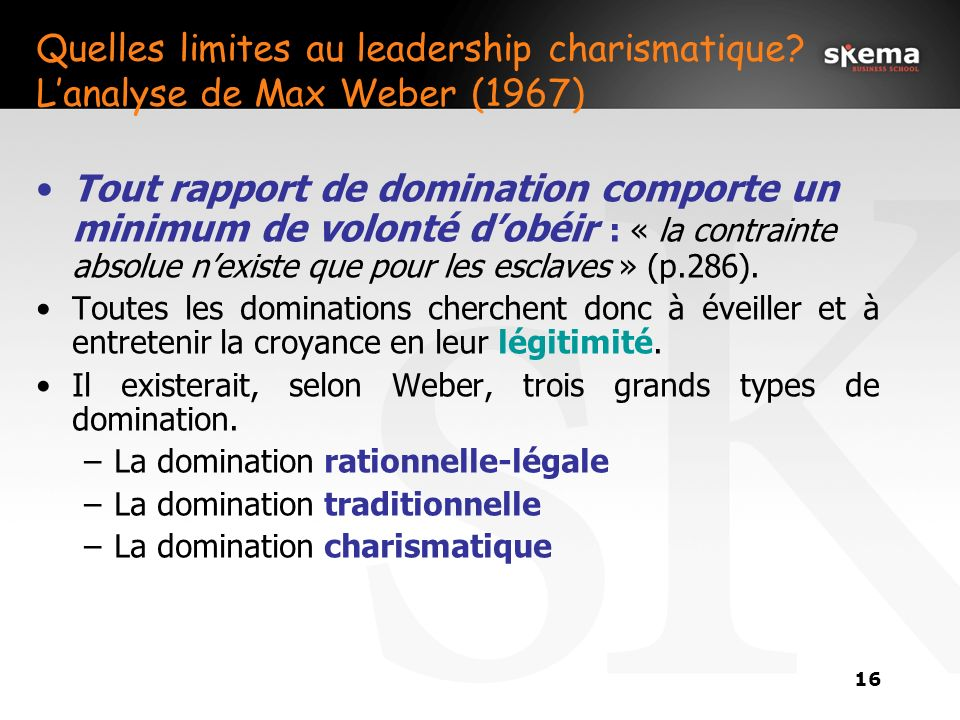 Quelles limites au leadership charismatique