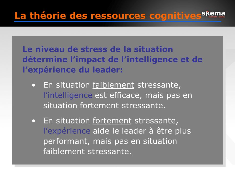 La théorie des ressources cognitives