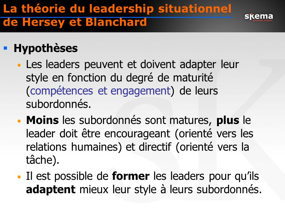 La théorie du leadership situationnel de Hersey et Blanchard