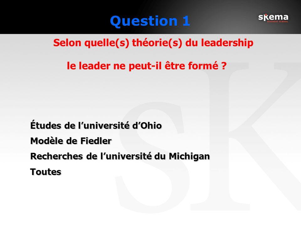 Question 1 le leader ne peut-il être formé