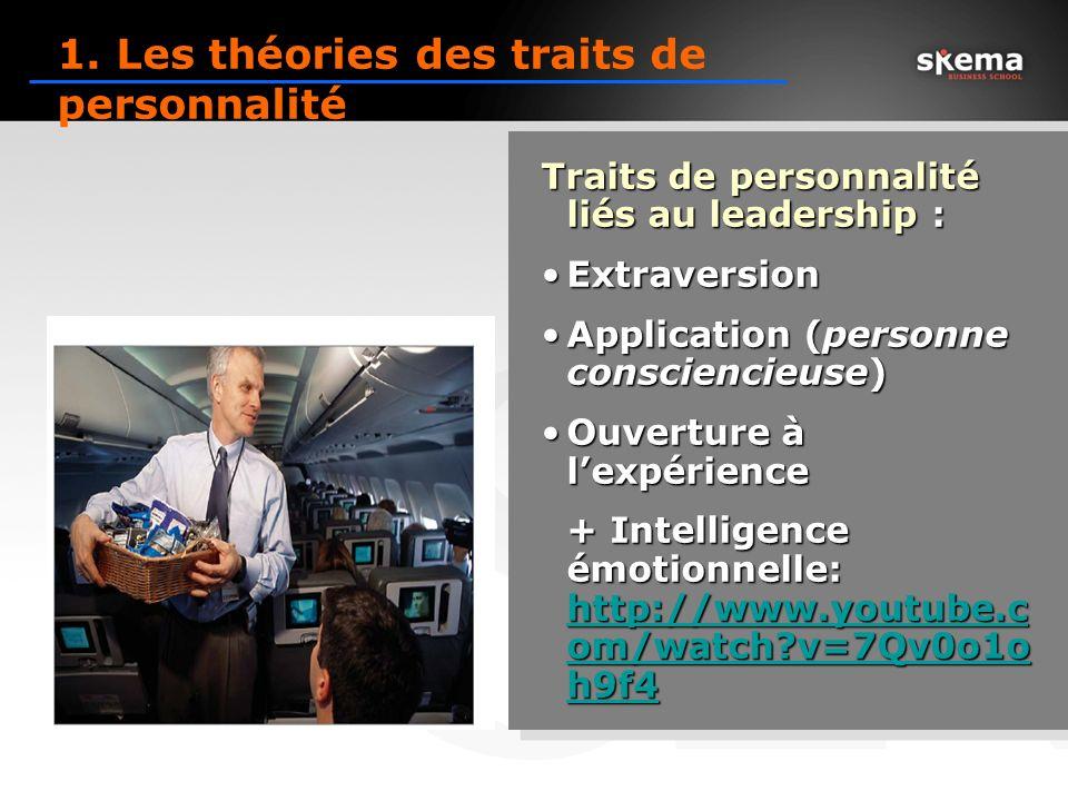 1. Les théories des traits de personnalité