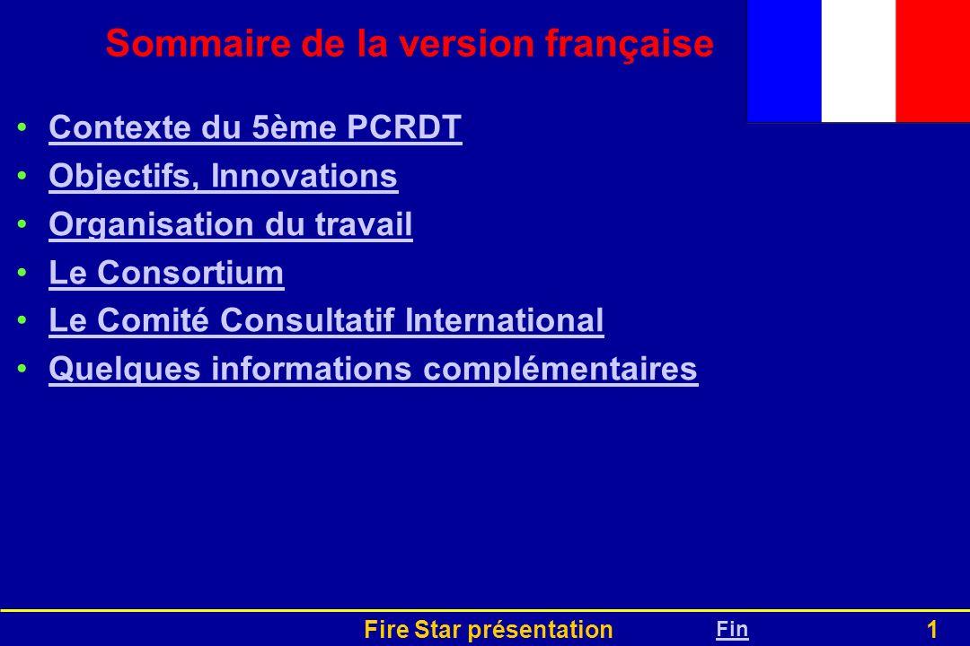 Sommaire de la version française
