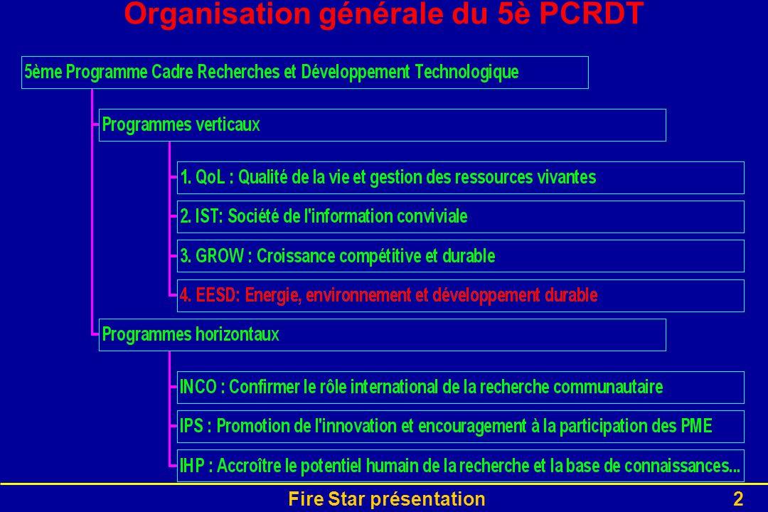 Organisation générale du 5è PCRDT