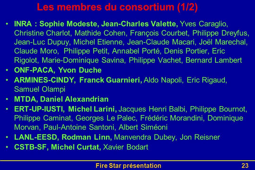 Les membres du consortium (1/2)