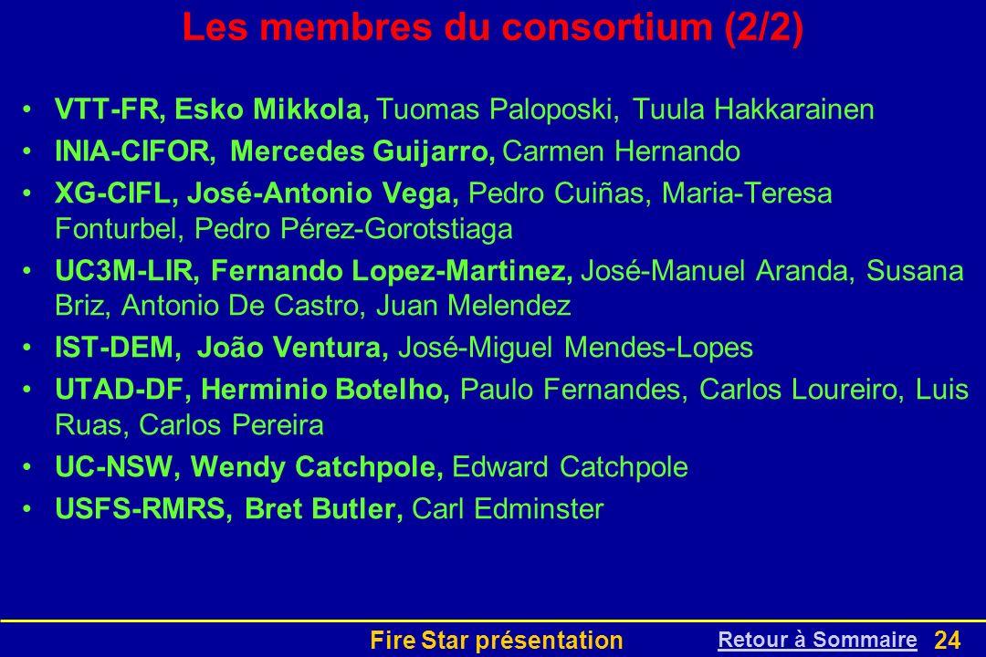 Les membres du consortium (2/2)