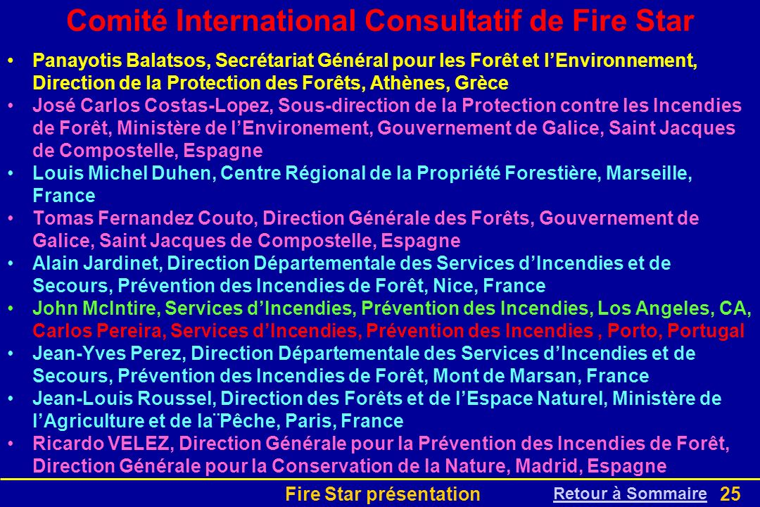 Comité International Consultatif de Fire Star