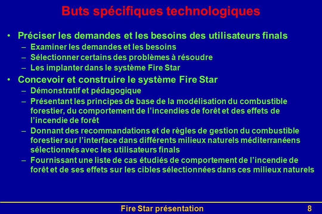 Buts spécifiques technologiques