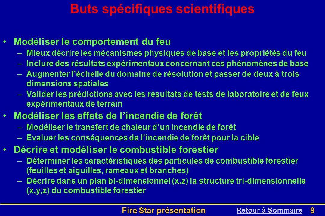 Buts spécifiques scientifiques