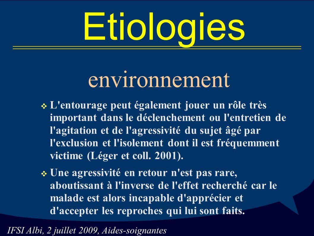 Etiologies environnement