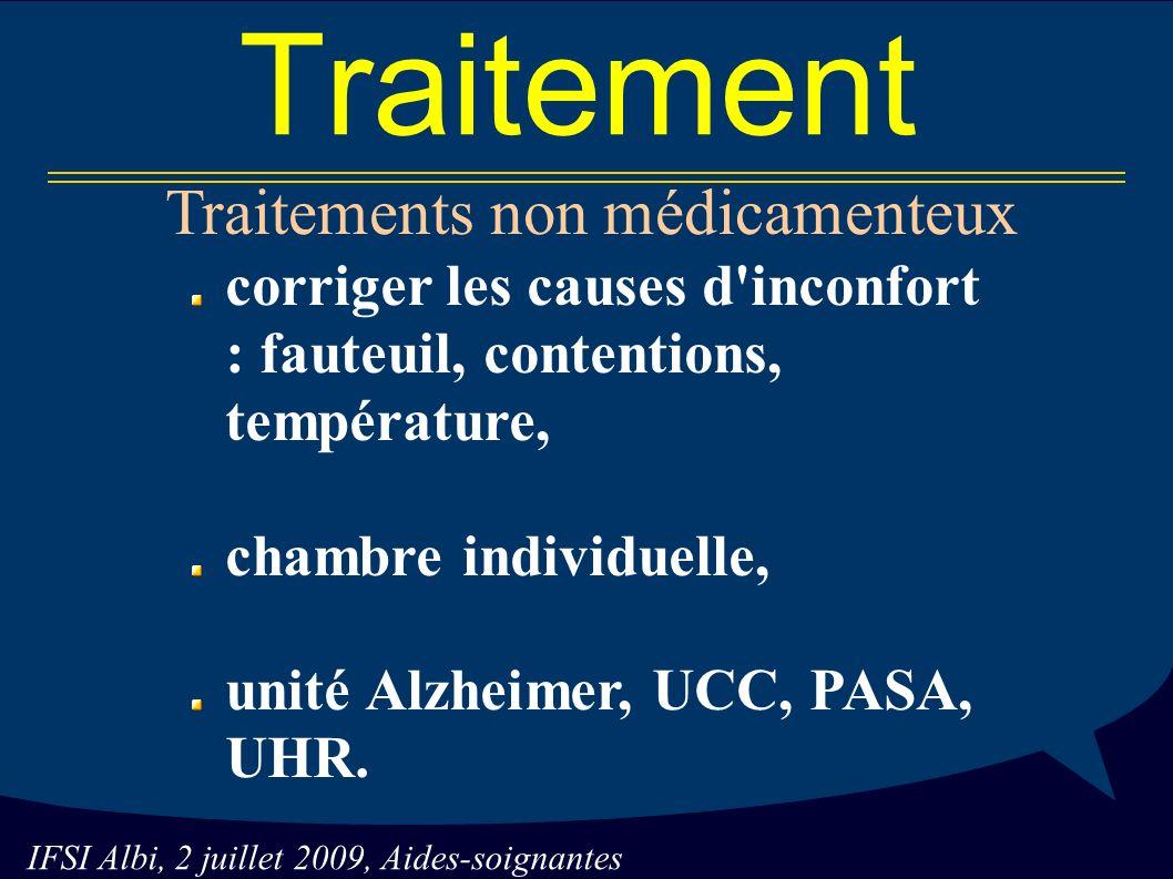 Traitements non médicamenteux