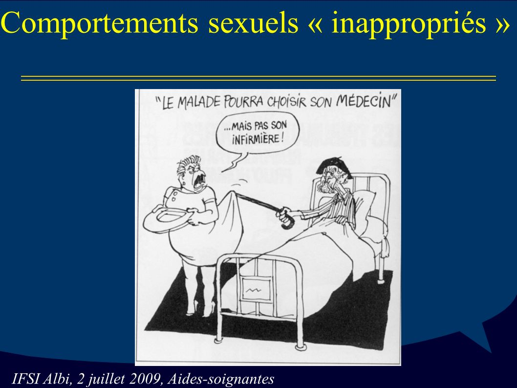 Comportements sexuels « inappropriés »
