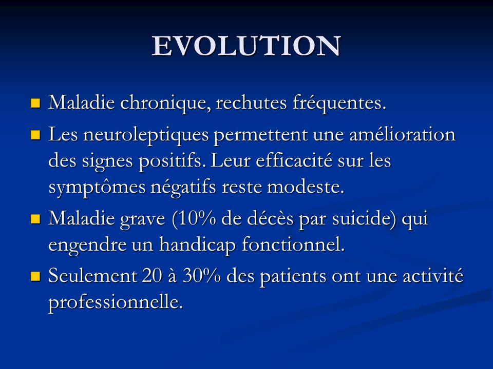 EVOLUTION Maladie chronique, rechutes fréquentes.