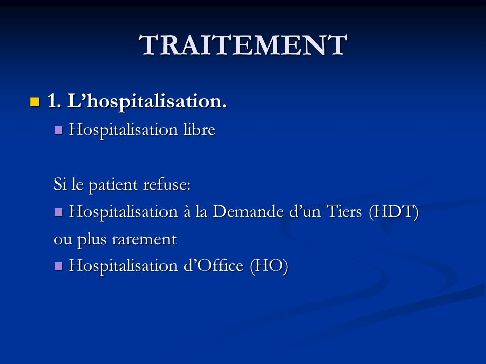 La schizophrenie docteur feuillebois ppt video online t l charger - Procedure hospitalisation d office ...