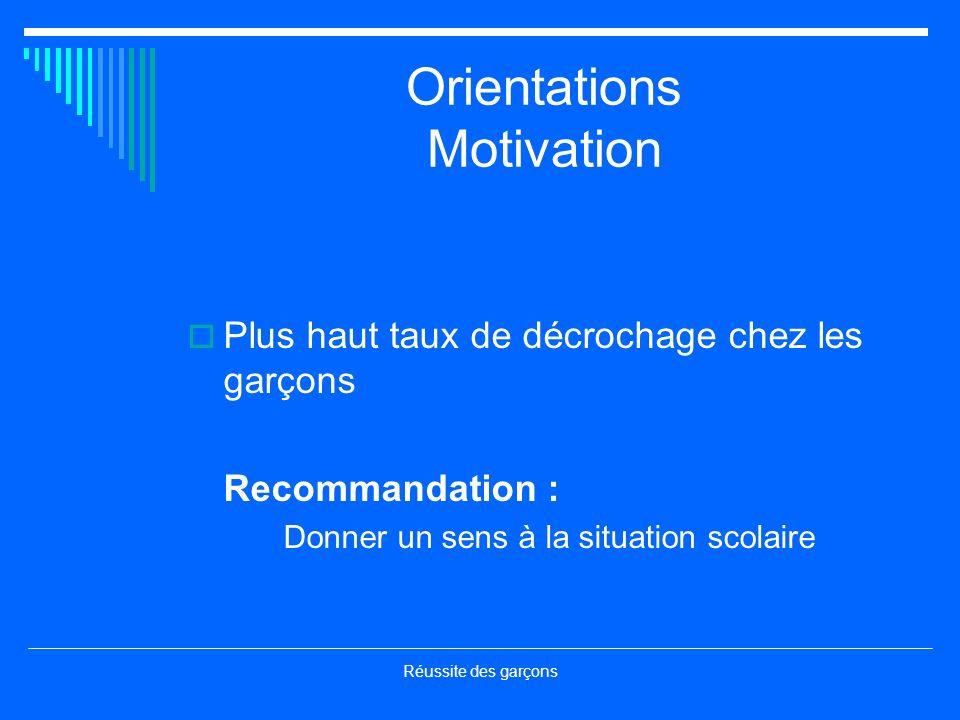 Orientations Motivation