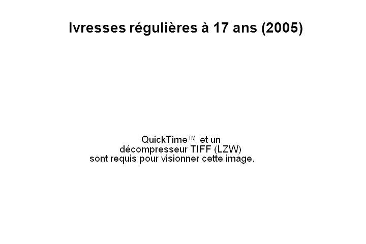 Ivresses régulières à 17 ans (2005)