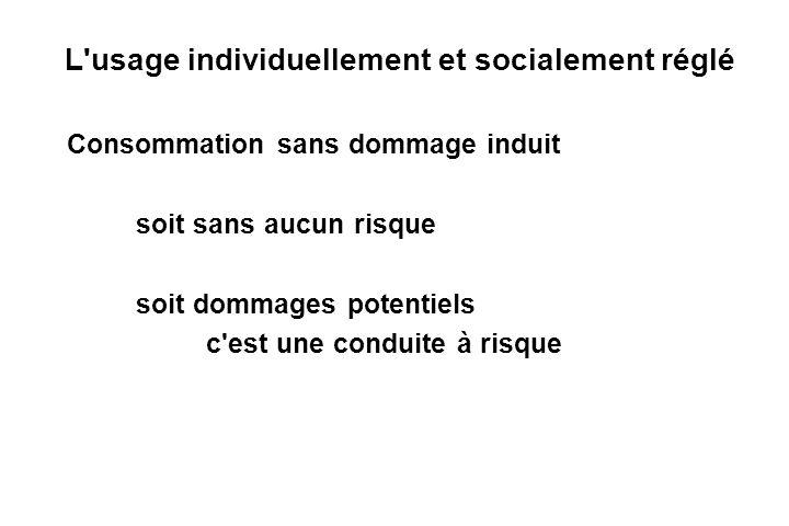 L usage individuellement et socialement réglé