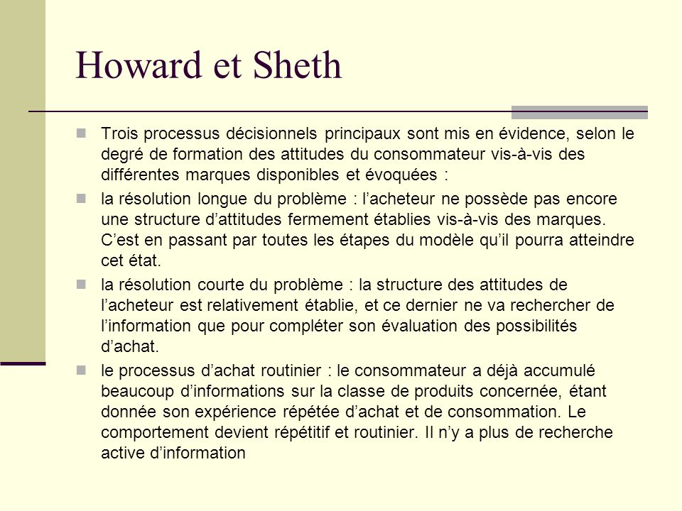 Howard et Sheth