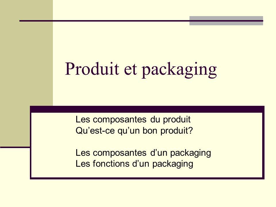 Produit et packaging Les composantes du produit