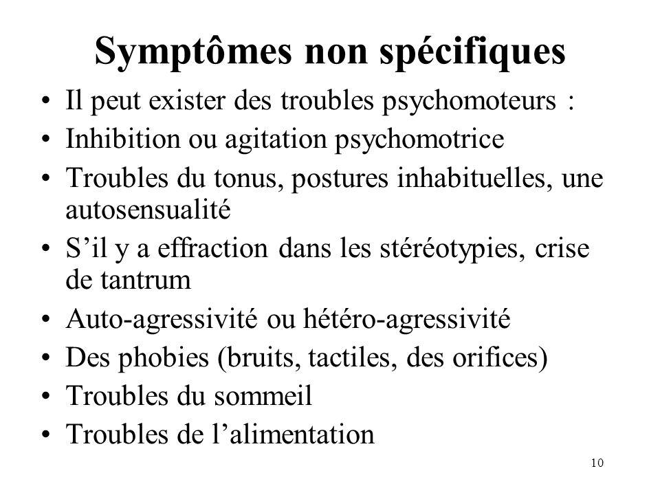Symptômes non spécifiques