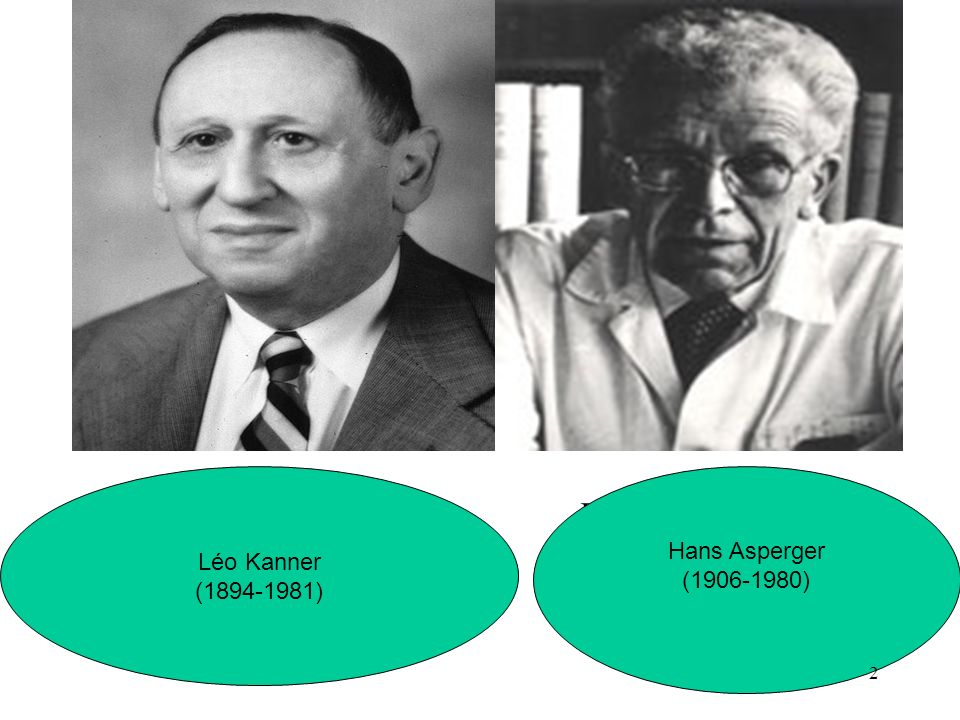 Léo Kanner (1894-1981) Hans Asperger (1906-1980) Hans Asperger