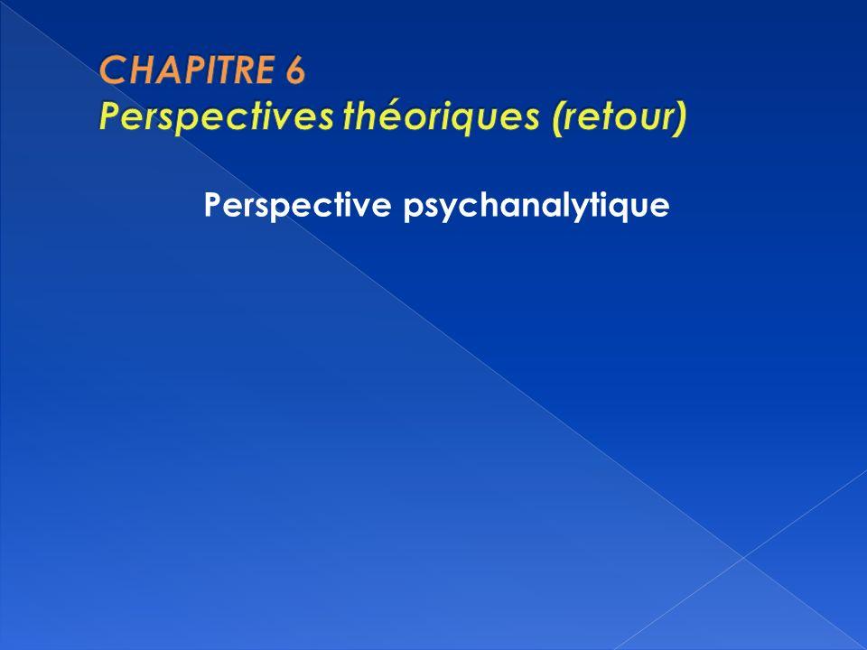 CHAPITRE 6 Perspectives théoriques (retour)
