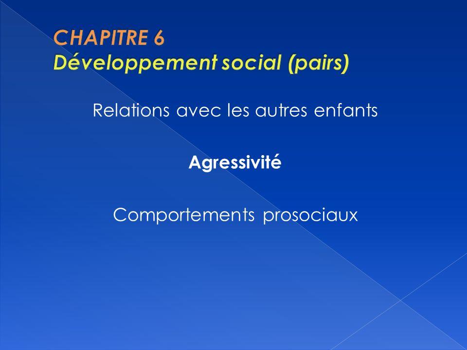 CHAPITRE 6 Développement social (pairs)