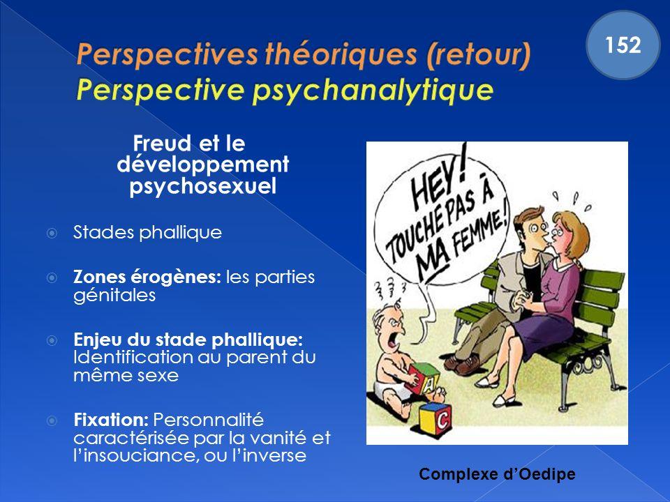 Perspectives théoriques (retour) Perspective psychanalytique
