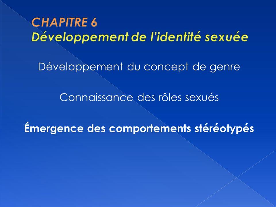 CHAPITRE 6 Développement de l'identité sexuée