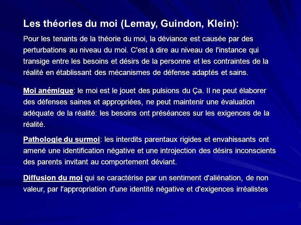 Les théories du moi (Lemay, Guindon, Klein):