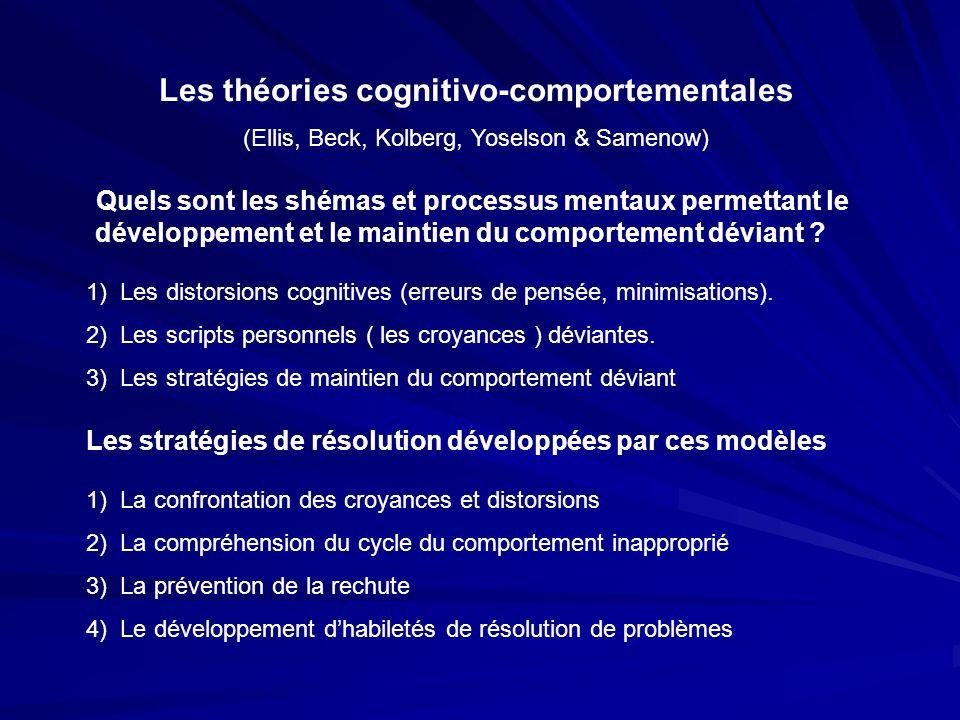 Les théories cognitivo-comportementales