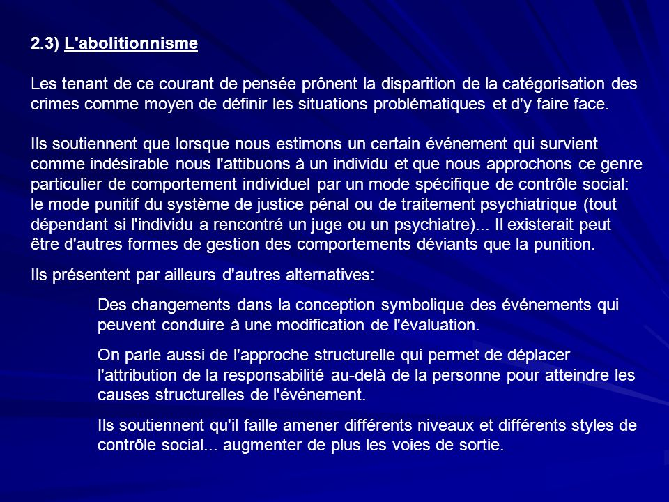 2.3) L abolitionnisme