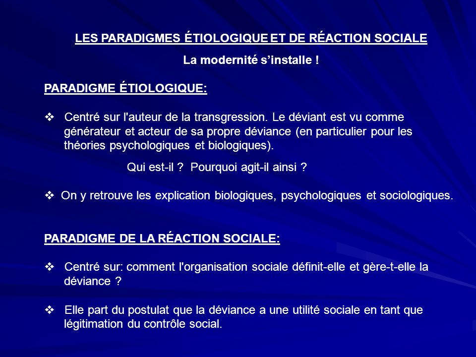 Pour une d finition du concept de d viance ppt video for Modernite definition