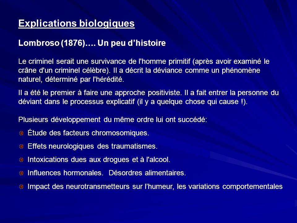Explications biologiques