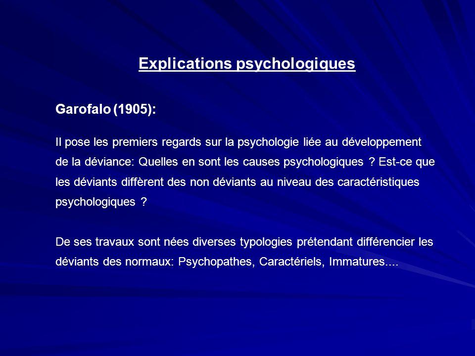Explications psychologiques