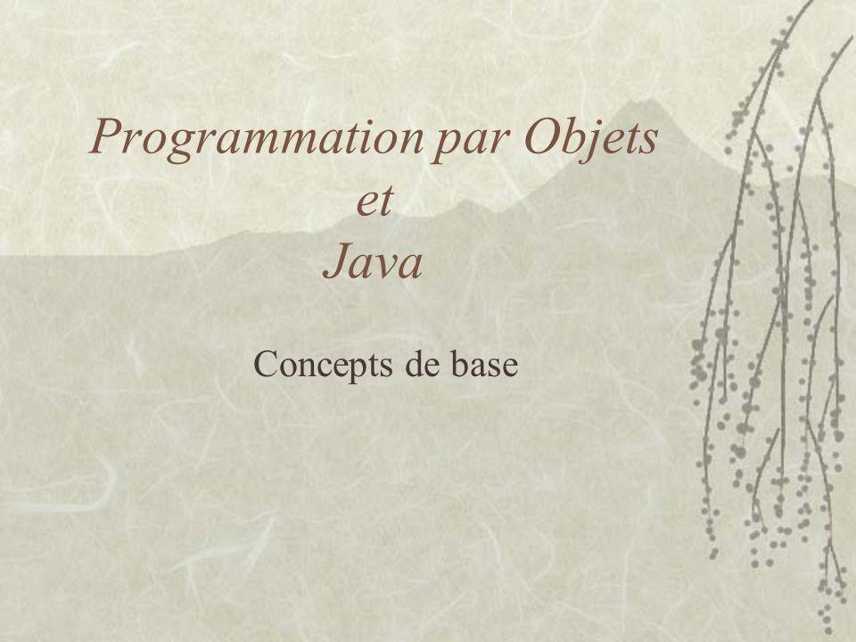 Programmation par Objets et Java