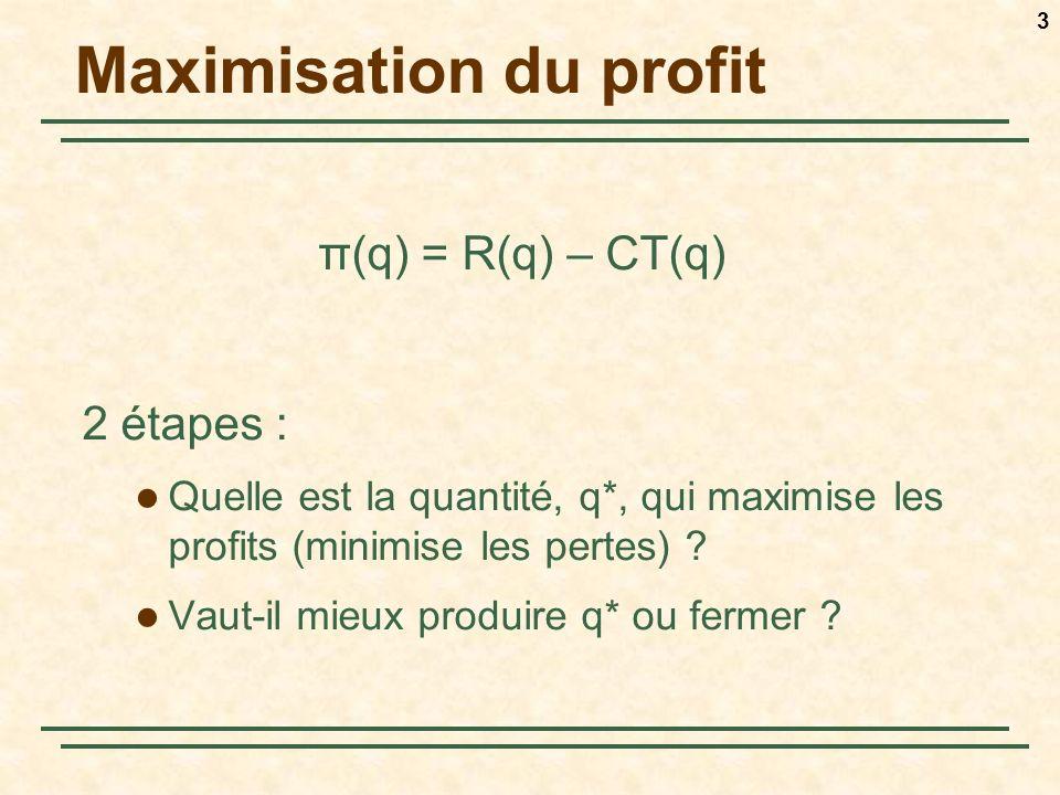 Maximisation du profit