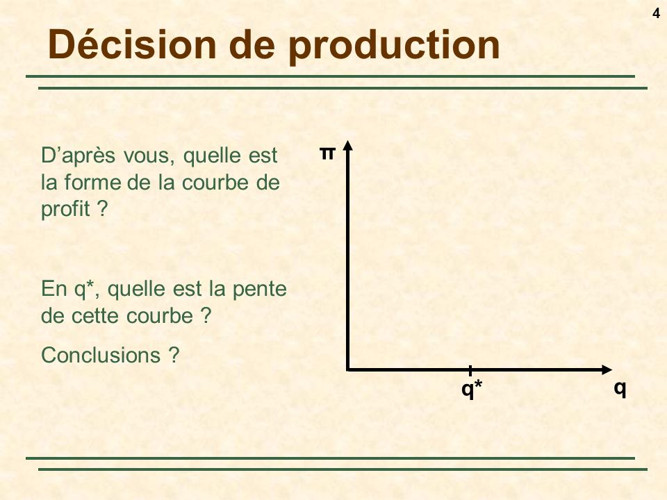 Décision de production