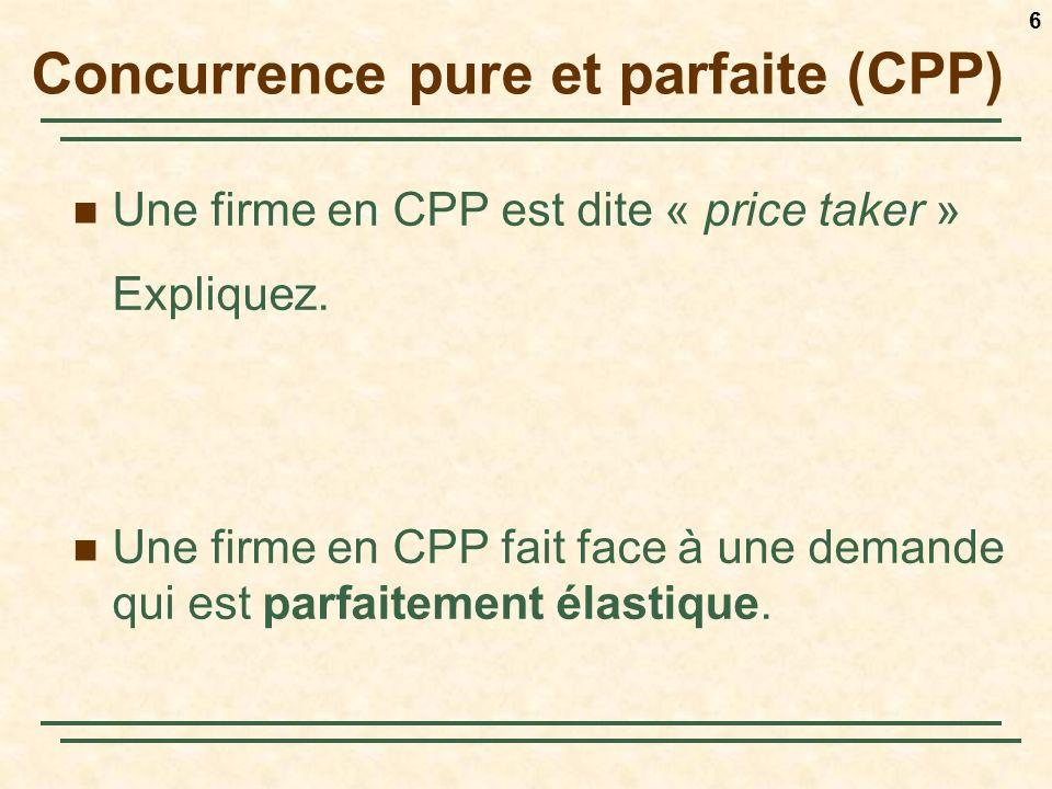 Concurrence pure et parfaite (CPP)